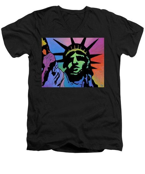 Liberty Of Colors Men's V-Neck T-Shirt