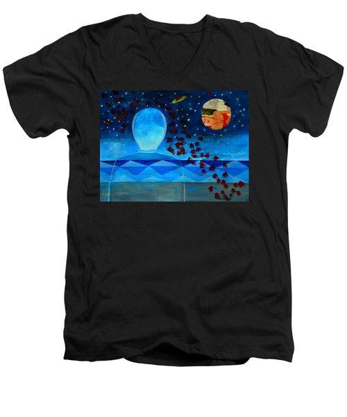 Life In Glass And Fake World Men's V-Neck T-Shirt