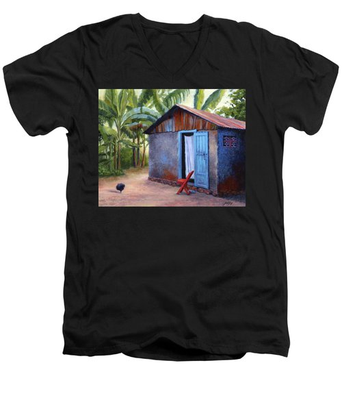Life In Haiti Men's V-Neck T-Shirt