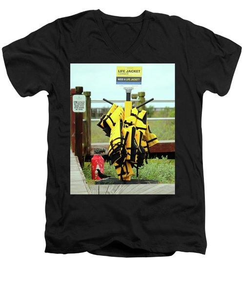 Life Jacket Station Men's V-Neck T-Shirt