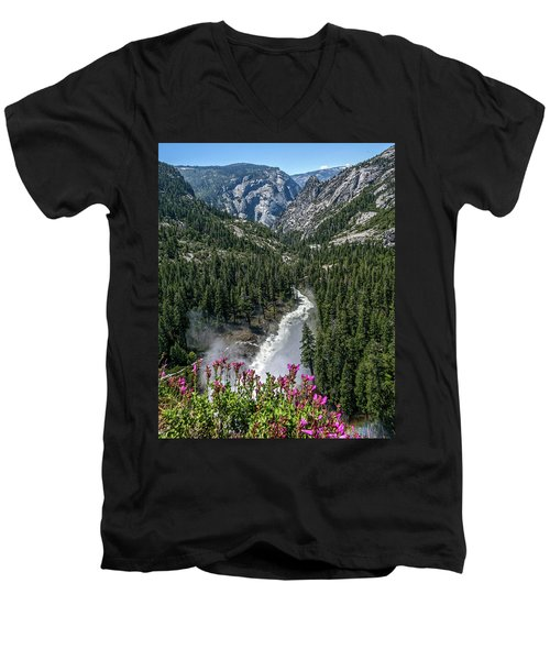 Life Line Of The Valley Men's V-Neck T-Shirt by Ryan Weddle