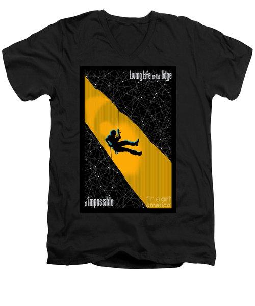 Life On The Edge Men's V-Neck T-Shirt