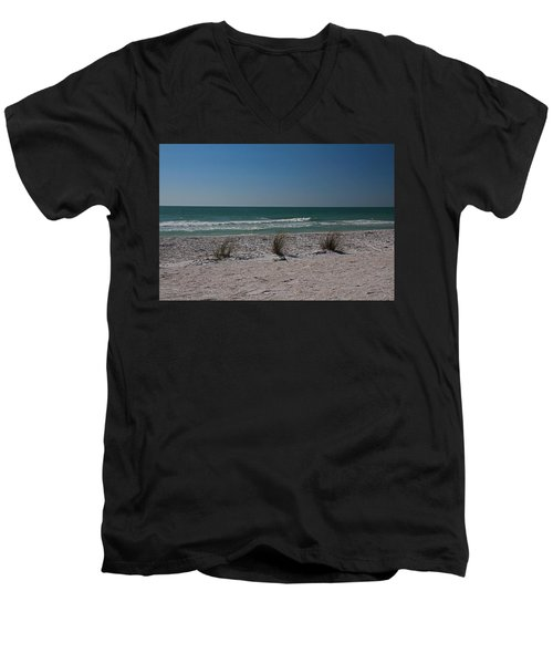 Men's V-Neck T-Shirt featuring the photograph Life's A Beach by Michiale Schneider
