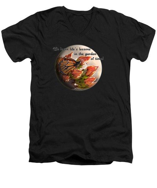 Life's Garden Men's V-Neck T-Shirt by Phyllis Denton