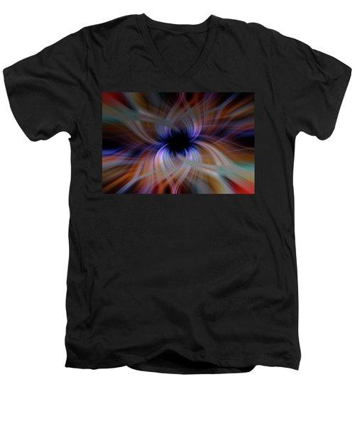 Light Abstract 5 Men's V-Neck T-Shirt
