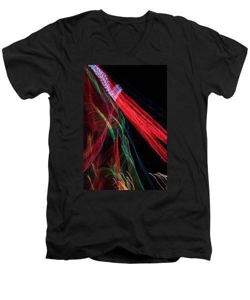 Light Ribbons Men's V-Neck T-Shirt