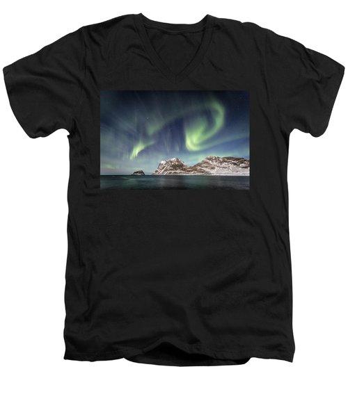 Light Show Men's V-Neck T-Shirt by Alex Conu