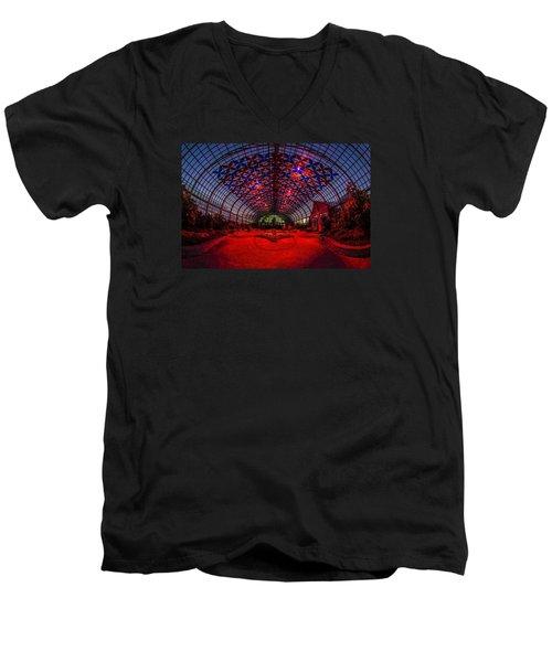 Light Show At The Conservatory Men's V-Neck T-Shirt