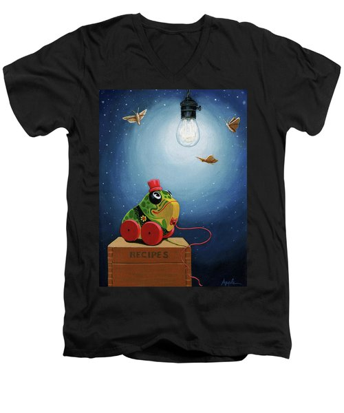 Light Snacks Original Whimsical Still Life Men's V-Neck T-Shirt by Linda Apple