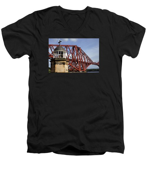 Men's V-Neck T-Shirt featuring the photograph Light Tower by Jeremy Lavender Photography