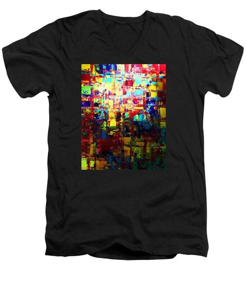Lighten Up Men's V-Neck T-Shirt