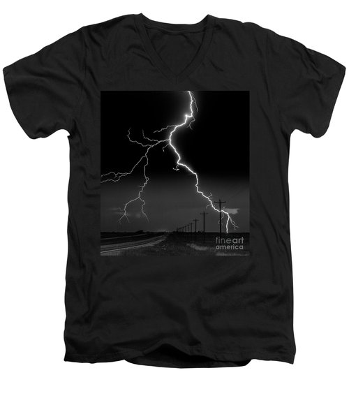 Lightning Bolt Men's V-Neck T-Shirt