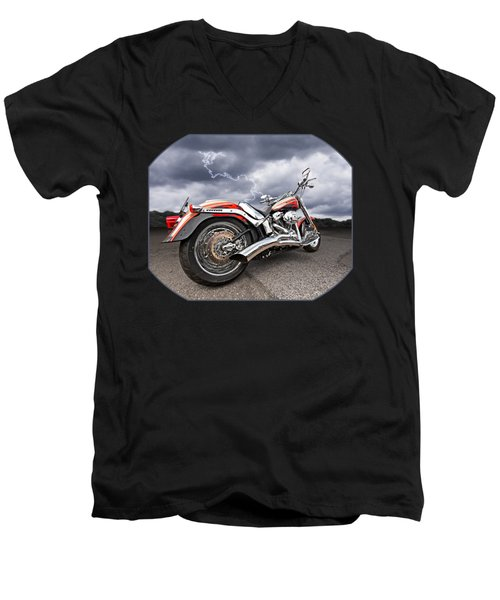 Lightning Fast - Screamin' Eagle Harley Men's V-Neck T-Shirt