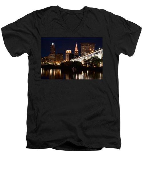 Lights In Cleveland Ohio Men's V-Neck T-Shirt