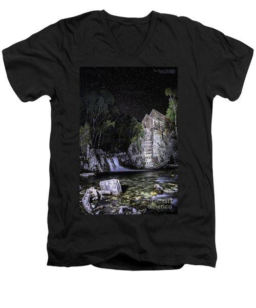 Lights On The Mill Men's V-Neck T-Shirt