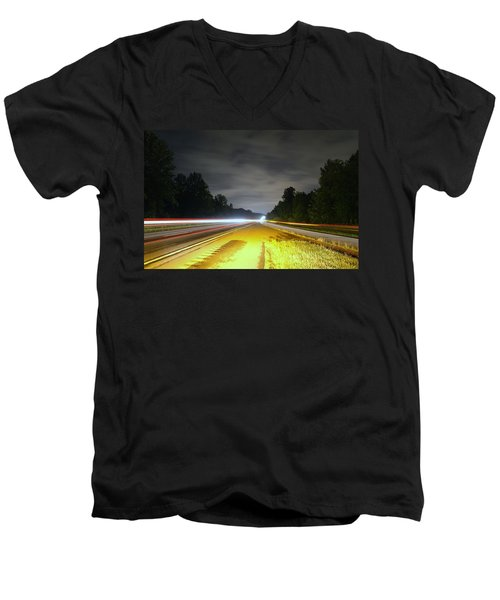 Men's V-Neck T-Shirt featuring the photograph Lightworks by Alex Grichenko