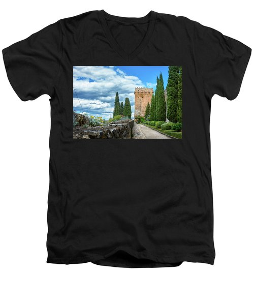 Like A Fortress In The Sky Men's V-Neck T-Shirt
