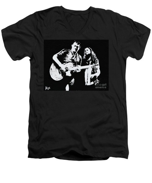 Like Johnny And June Men's V-Neck T-Shirt by Alys Caviness-Gober