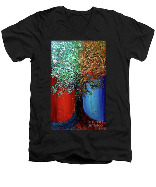 Like The Changes Of The Seasons Men's V-Neck T-Shirt by Ania M Milo
