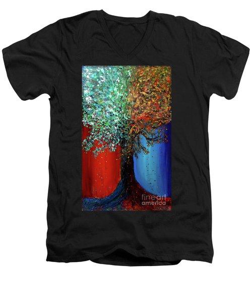 Like The Changes Of The Seasons Men's V-Neck T-Shirt