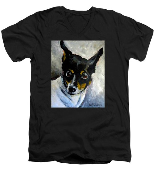 Lil Rat Terrier Men's V-Neck T-Shirt