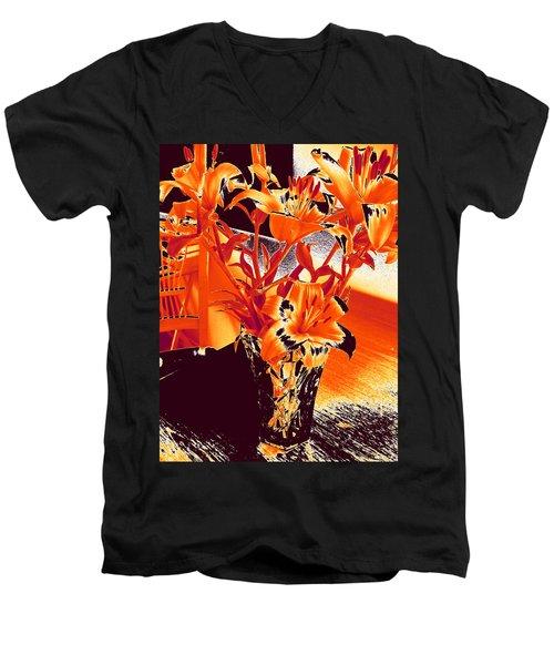 Lilies #2 Men's V-Neck T-Shirt
