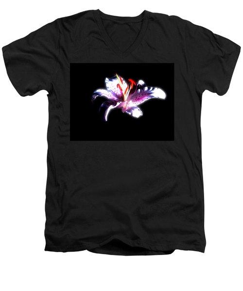 Lilly Flower  Men's V-Neck T-Shirt