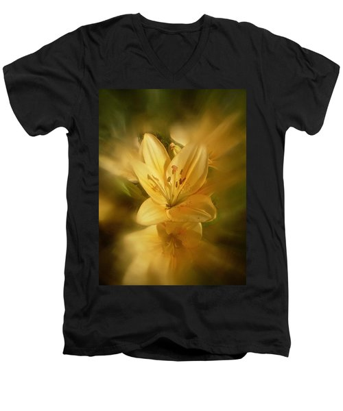 Men's V-Neck T-Shirt featuring the photograph Lily Be Mine by Richard Cummings