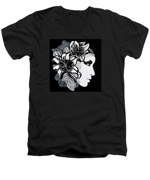 Lily Bella Men's V-Neck T-Shirt by Yelena Tylkina