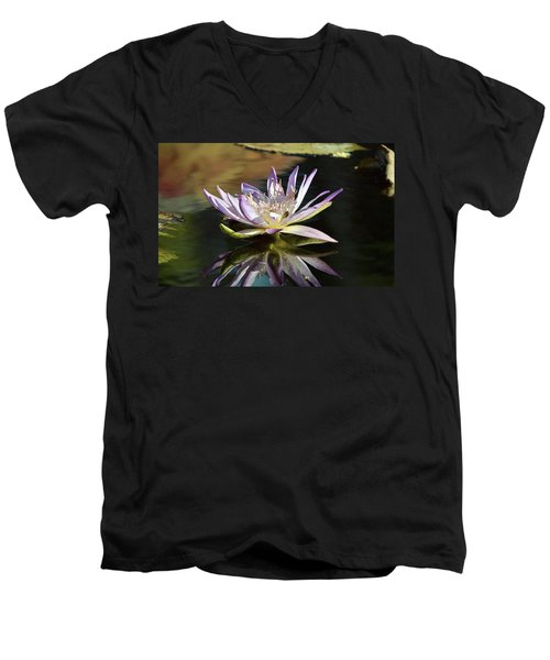 Lily Reflections Men's V-Neck T-Shirt