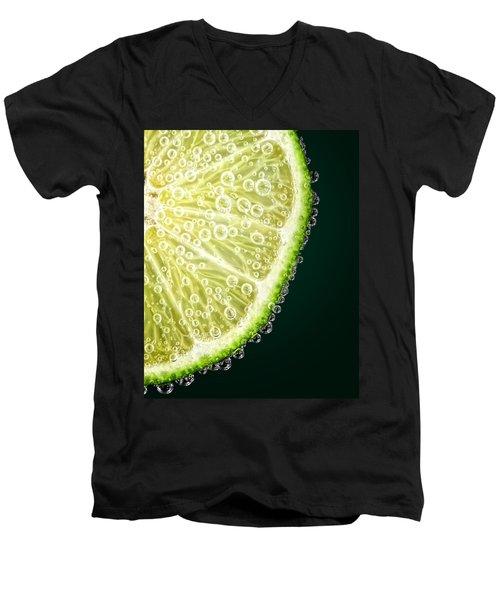 Lime Slice Men's V-Neck T-Shirt