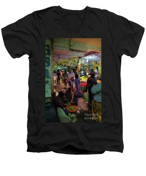 Men's V-Neck T-Shirt featuring the photograph Limes For Sale by Mike Reid