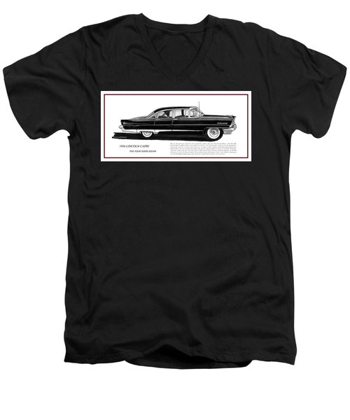 Lincoln Capri 1956 Men's V-Neck T-Shirt by Jack Pumphrey
