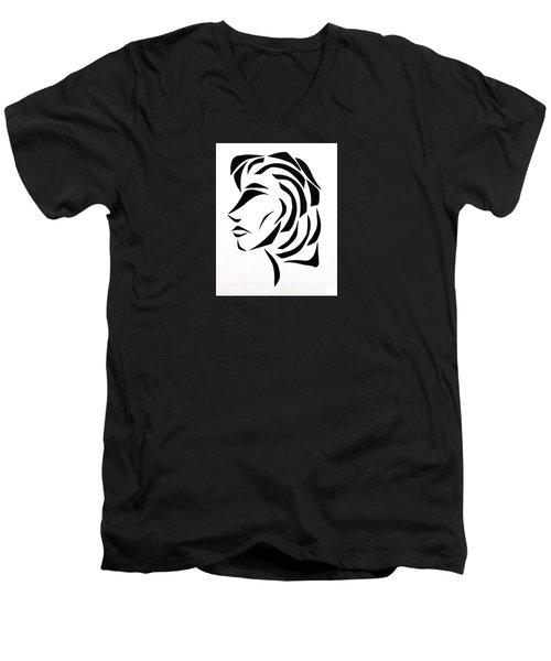 Lindsay Men's V-Neck T-Shirt by Delin Colon