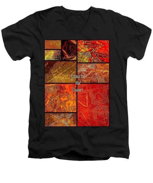 Lines In The Desert Men's V-Neck T-Shirt