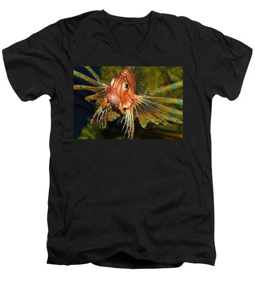 Lion Fish 2 Men's V-Neck T-Shirt