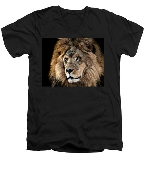 Lion King Of The Jungle 2 Men's V-Neck T-Shirt