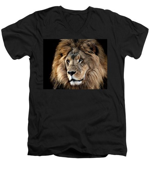 Lion King Of The Jungle 2 Men's V-Neck T-Shirt