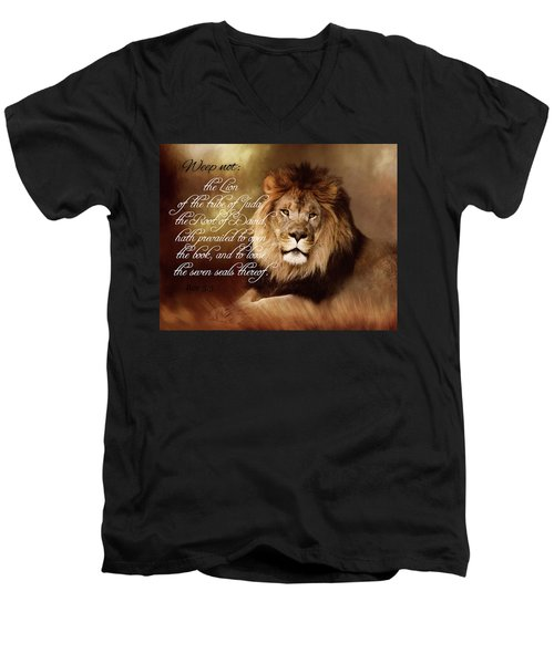 Lion Of Judah Men's V-Neck T-Shirt by TnBackroadsPhotos