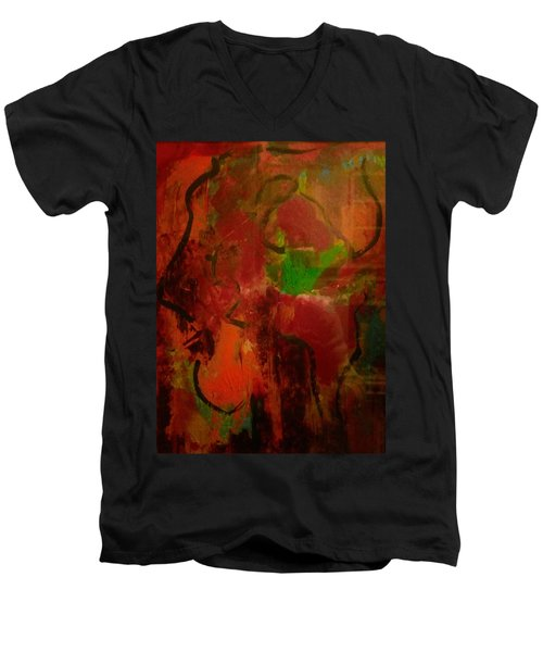 Lion Proile Men's V-Neck T-Shirt