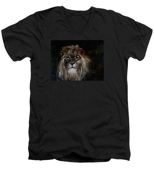 Sargas The Lion Men's V-Neck T-Shirt by Barbie Batson