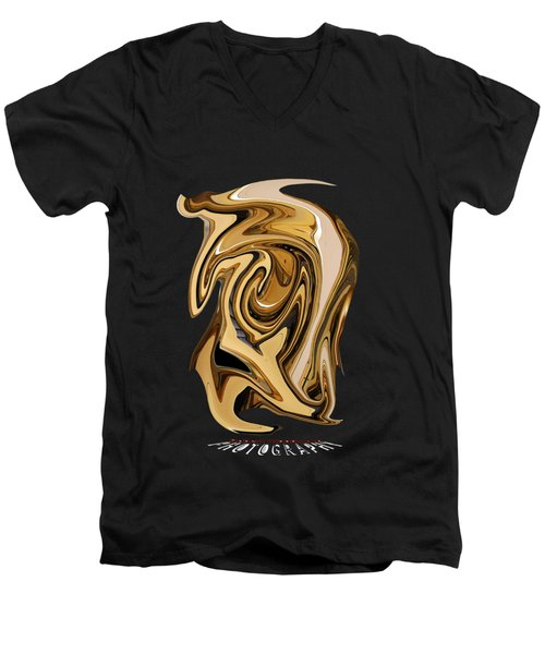 Liquid Gold Transparency Men's V-Neck T-Shirt
