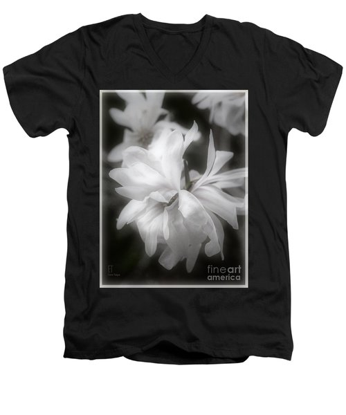 Men's V-Neck T-Shirt featuring the photograph Lisa by Elaine Teague