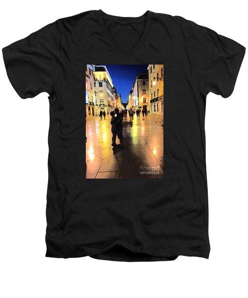 Lisbon Love Men's V-Neck T-Shirt by Tom Wurl