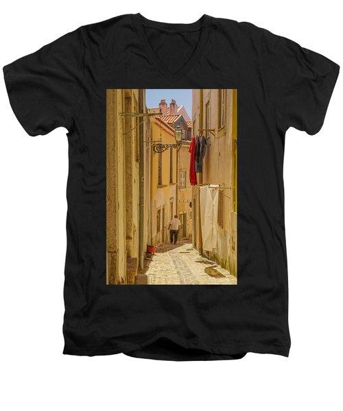 Lisbon Street # 1 Men's V-Neck T-Shirt