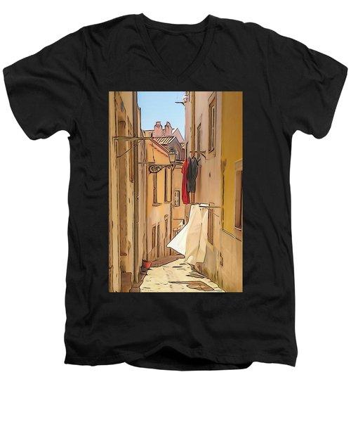 Lisbon Street #2 Men's V-Neck T-Shirt