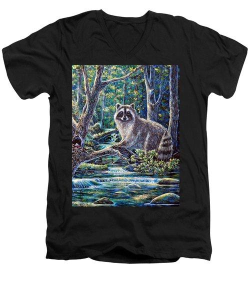 Little Bandit Men's V-Neck T-Shirt by Gail Butler