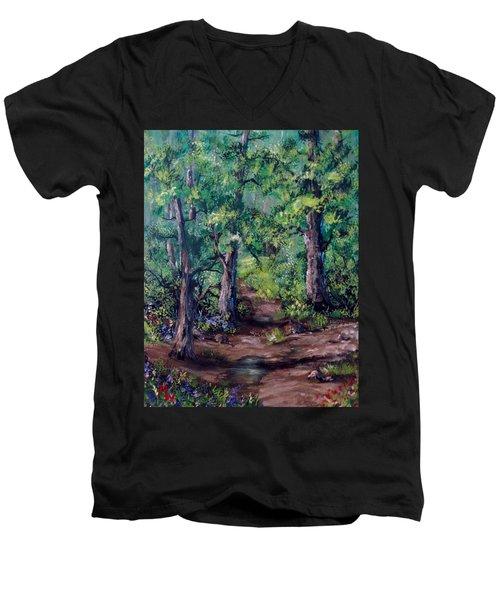 Little Clearing Men's V-Neck T-Shirt by Megan Walsh