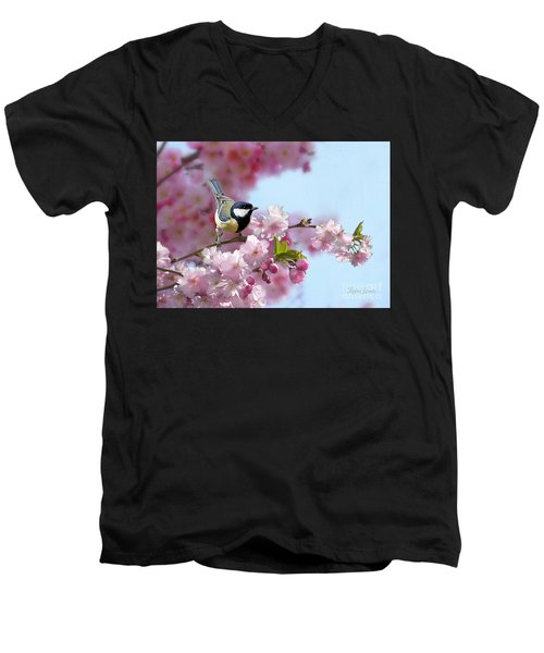 Little Coal Tit Men's V-Neck T-Shirt
