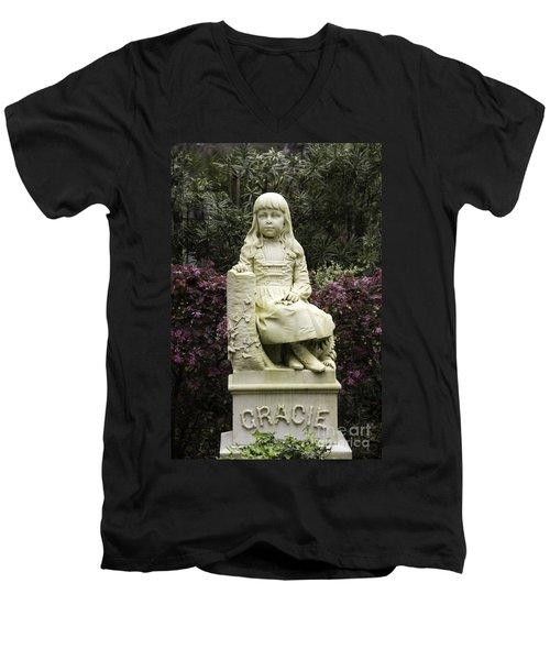 Little Gracie Bonaventure Cemetery Men's V-Neck T-Shirt